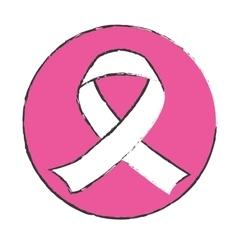 emblem breast cancer ribon image vector image