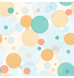 Fabric circles abstract seamless pattern vector
