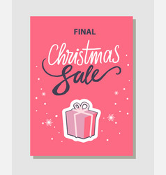 final christmas sale pink vector image