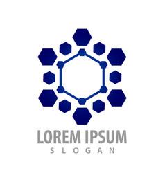 futuristic hexagon tech concept design symbol vector image