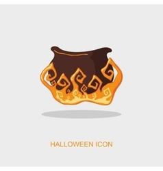 Halloween witch cauldron icon vector image