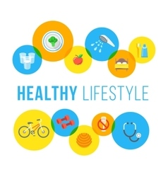 Healthy lifestyle flat concept vector