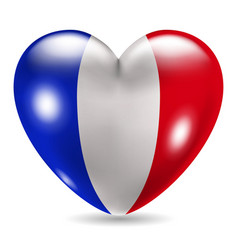 Heart shaped icon with flag france vector
