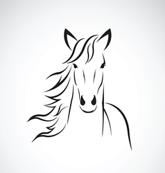 image of a horse head design vector image