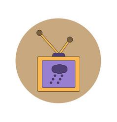 In flat design of tv weather vector