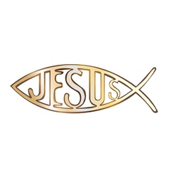 Jesus fish vector