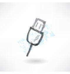 Key grunge icon vector