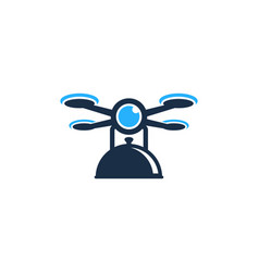 Menu drone logo icon design vector