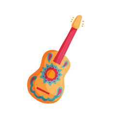 mexican guitar icon vector image