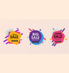 Modern abstract trendy sale design set vector