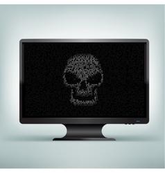 monitor code skull vector image