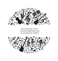 Music background with instruments and notes vector