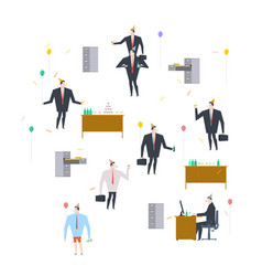 office party holiday at work businessman on feast vector image