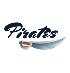 Pirates game element with sword vector