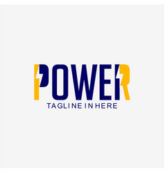 Power logo template design vector