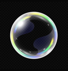 Realistic soap bubble isolated vector