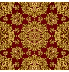 Red and gold ornament vector