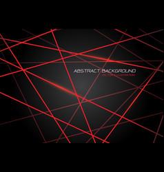 red line light laser cross overlap on dark grey vector image