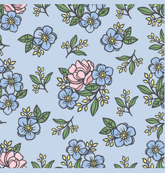 rose pattern floral wedding seamless vector image