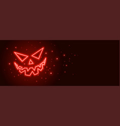scary ghost laughing face halloween banner design vector image
