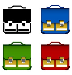 School bag icons vector