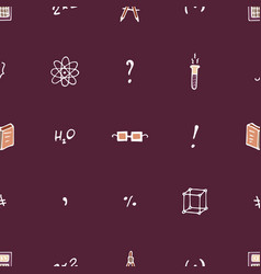 scientific seamless pattern with books symbols vector image