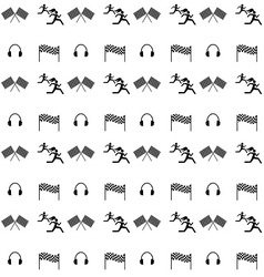 seamless ikonki sport vector image