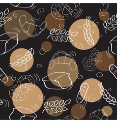 Seamless pattern with bakery products vector image