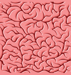 seamless pattern with brains vector image