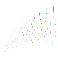 Source stream of lines and dots vector