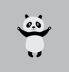 Standing panda full length cartoon character flat vector