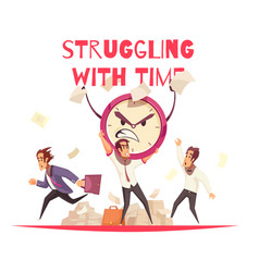 Struggling with time design concept vector