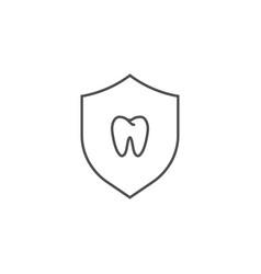 teeth protection icon vector image