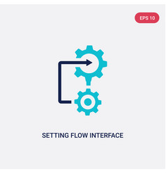 two color setting flow interface icon from vector image