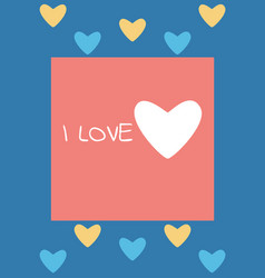 valentine or romantic day abstract love card vector image
