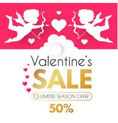 valentine s day sale cute design template vector image