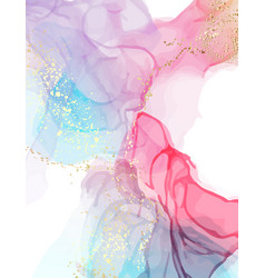 watercolor alcohol ink abstract texture pink vector image