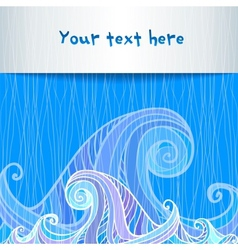 Blue and violet waves background vector image