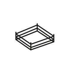boxing stage icon vector image