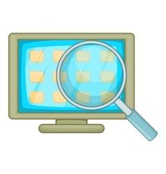 Desktop folders icon cartoon style vector image vector image