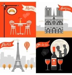France paris retro style concept vector