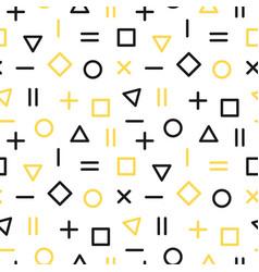 geometric memphis seamless pattern vector image