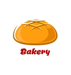 Round bread with baked crust vector image
