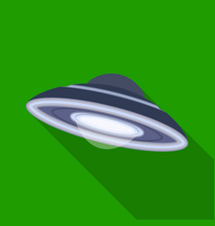 ufo icon in flat style isolated on white vector image