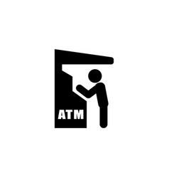 atm icon flat vector image