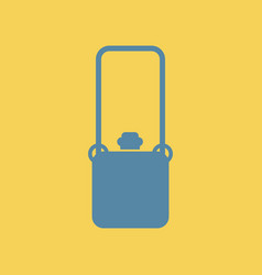Flat icon travel suitcase vector