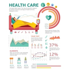Medical health healthcare icons and data elements vector image