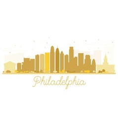 Philadelphia City skyline golden silhouette vector image vector image
