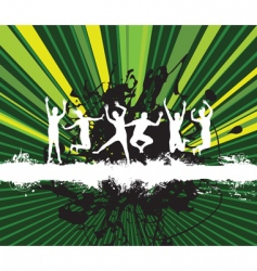 splash jumpers vector image vector image
