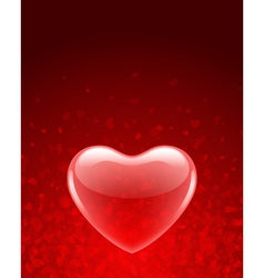 transparent red heart vector image vector image